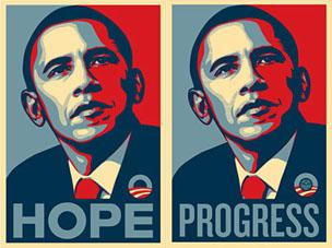 Cartel electoral de Obama