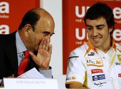 D. Emilio Botín y Fernando Alonso
