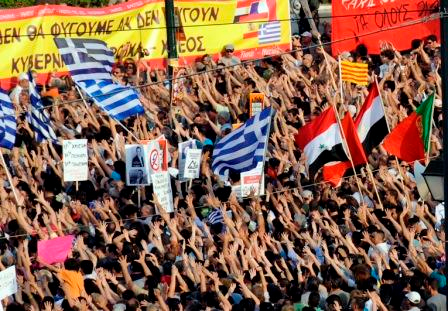 Protestas en Grecia
