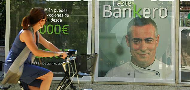 Detalle de la campaña publicitaria de Bankia