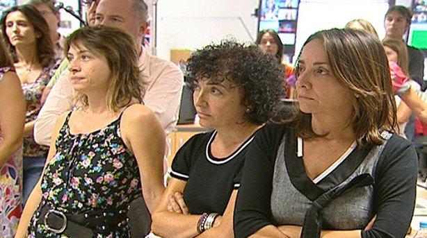 Pepa Bueno con compañeros de RTVE