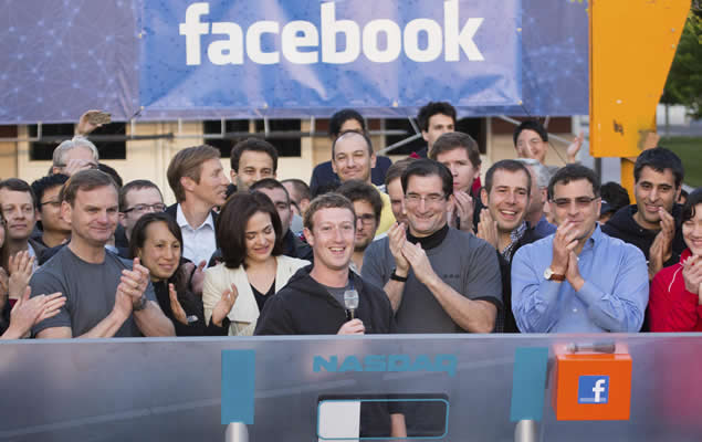 Mark Zuckerberg en la salida a bolsa de Facebook