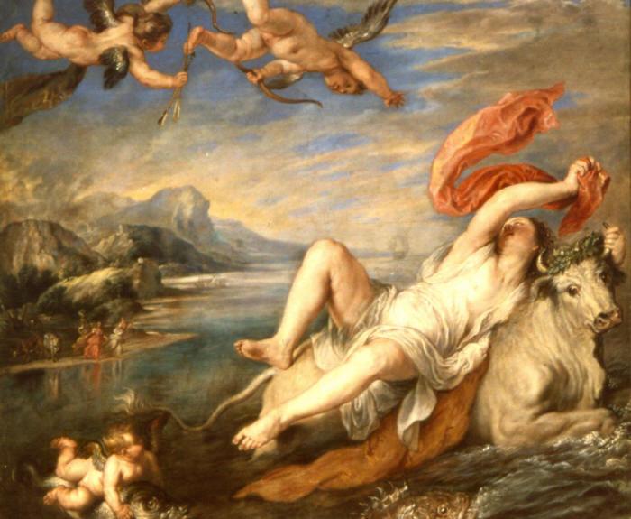 El Rapto de Europa de Tiziano