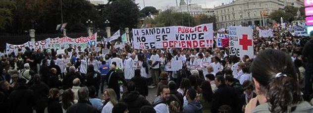 Marcha por la Sanidad Pública en Madrid