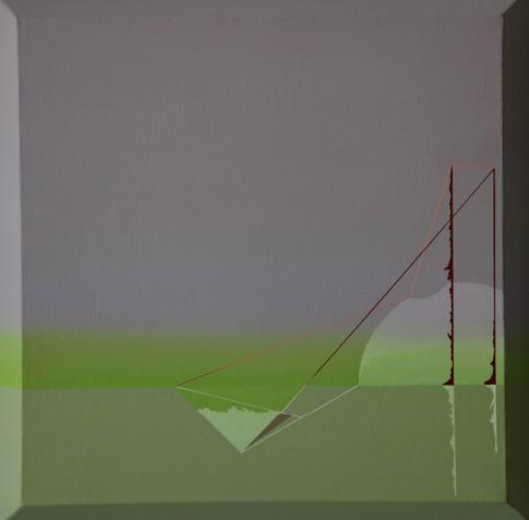 Teresa Muñiz. Sin título- Acrílico sobre lienzo 40 cm x 40 cm - Año: 2011