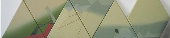 Teresa Muñiz. Sin Título. Acrílico sobre tela políptico 1.30 cm x 0.26 cm - Año 2010