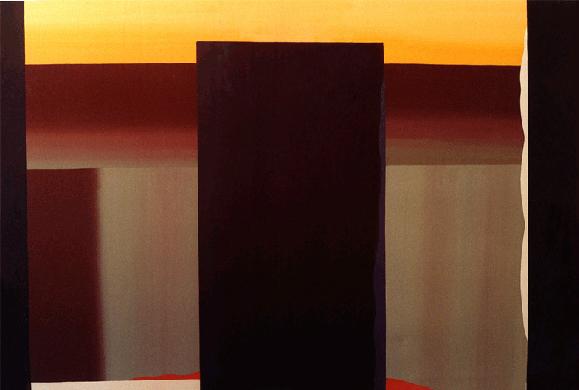 """Teresa Muñiz. """"Inminencia"""" - Acrílico sobre tela - 195 cm x 130 cm - Periodo: 2000- 2006"""