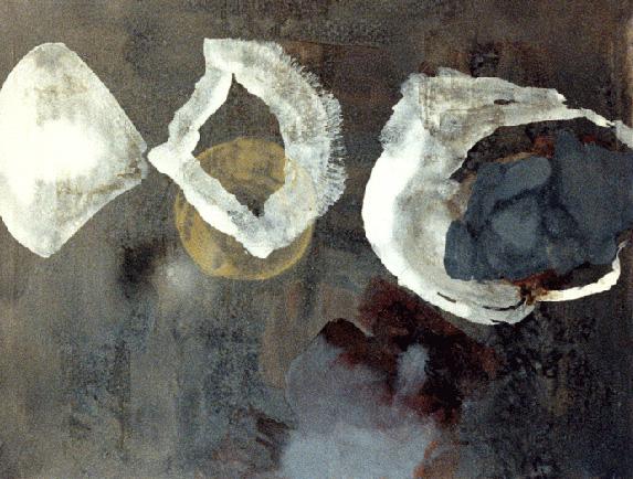 Teresa Muñiz. Hondeo. Óleo sobre tela 160 cm x 130 cm. Año 1991