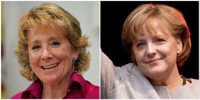 Esperanza Aguirre y Angela Merkel