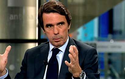 Aznar durante su entrevista en Antena 3 el pasado 22 de mayo