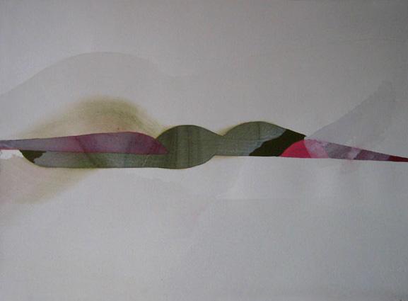 eresa Muñiz. Sin título. Acuarela y temple sobre papel. 34 cm x 48 cm. Año 2007