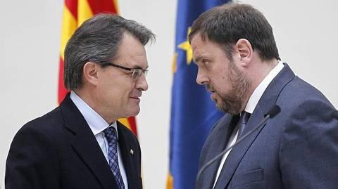 Artur Mas y Oriol Junquera. Pedro Madueño