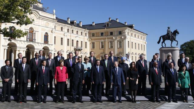 Foto de familia del G-20 celebrado en San Petersburgo