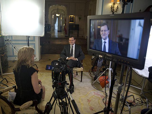Rajoy durante su entrevista para Bloomberg (Nueva York)