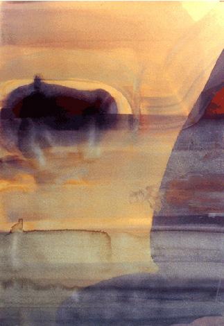 Teresa Muñiz. Sin Título. Acuarela sobre papel 100 cm x 70 cm Año 2002