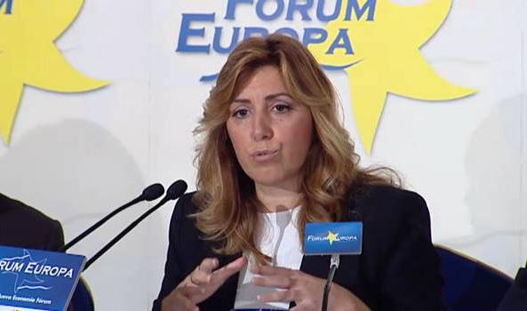 La presidenta de la Junta de Andalucía, Susana Díaz, el pasado día 3 en Madrid