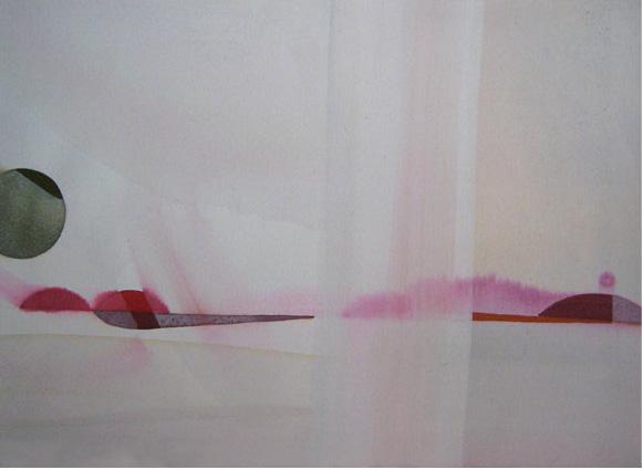 Teresa Muñiz. Sin título. Acuarela y temple sobre papel 34 cm x 48 cm Año 2007