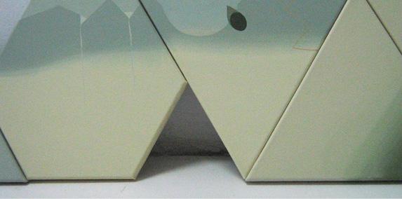 Teresa Muñiz. Sin Título. Acrílico sobre tela. Políptico 1.30 cm x 0.26 cm (fragmento) Año 2010
