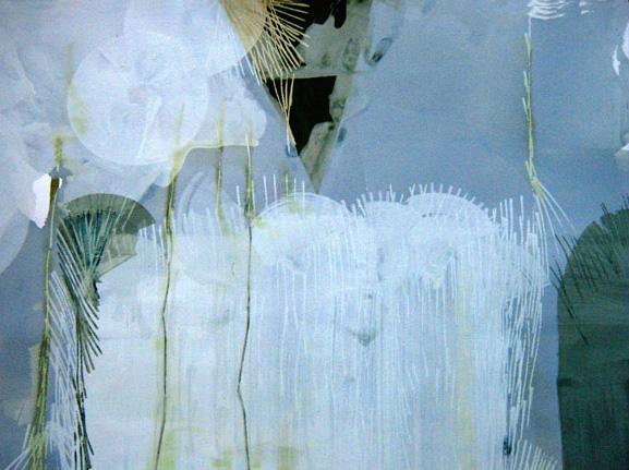 "Teresa Muñiz. ""Jardín"". Acuarela y temple sobre papel. 75 cm x 57 cm. 2007"