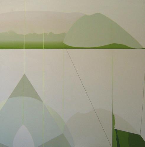 Teresa Muñiz. Sin título. Acrílico sobre tela 1.62 cm x 1.62 cm. Año 2010