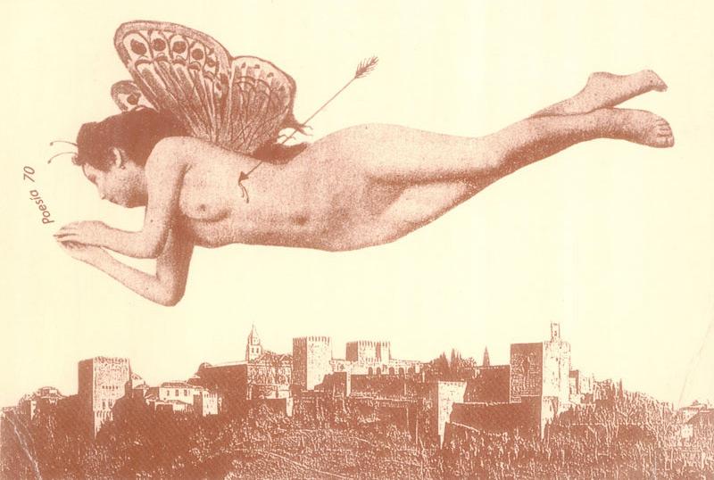 Poesía 70 revolotea por el aire de Granada. Obra de Claudio Sánchez Muros.
