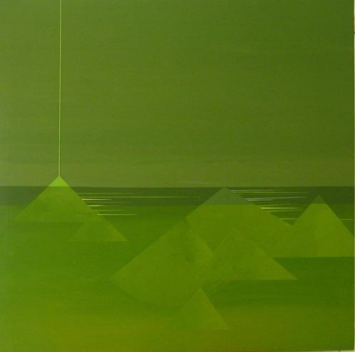 Teresa Muñiz. Sin título. Acrílico sobre tela 130 cm x 130 cm. Año 2010