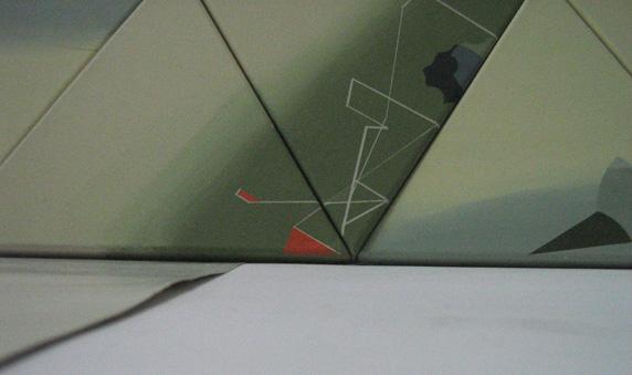 Teresa Muñiz. Acrílico sobre tela políptico 1.3 cm x 026 cm. Año 2010 (Fragmento)
