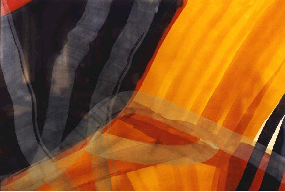 Teresa Muñiz. Materia complejo y firme. Acuarela sobre papel. 100cm x 70 cm Año 1998
