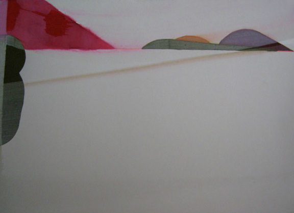 Teresa Muñiz. Acuarela y temple sobre papel 34 cm x 48 cm. Año 2007