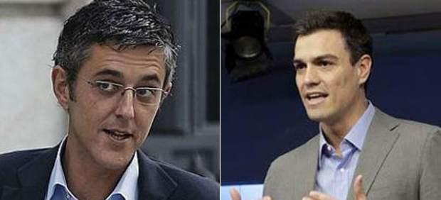 Los candidatos a la secretaría general del PSOE Eduardo Madina y Pedro Sánchez