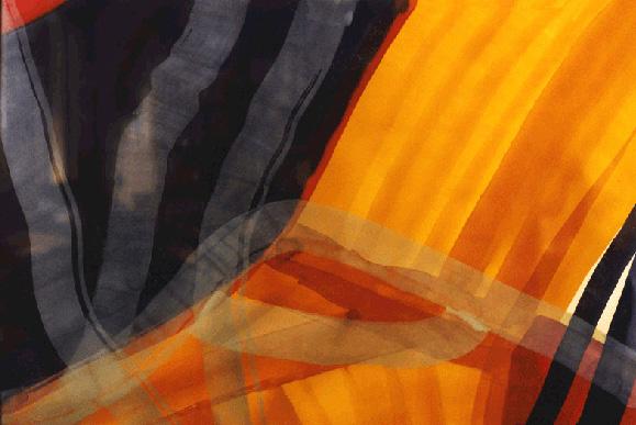 Teresa Muñiz. Materia compleja y firme. Acuarela sobre papel 70 cm x 100 cm Año 1998