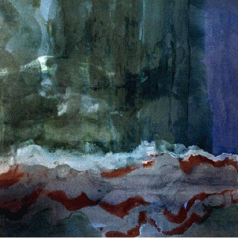 Teresa Muñiz. Espacio inundado. Óleo sobre tela. 190 cm x 190 cm Año 1991