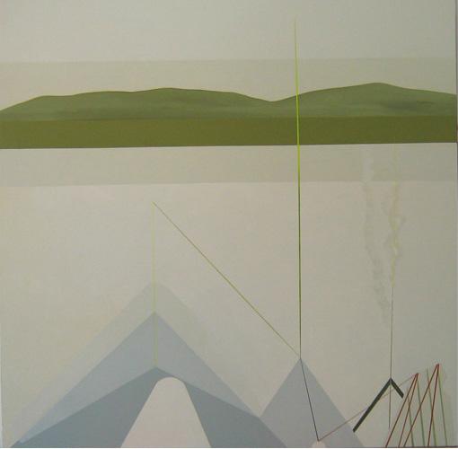 Teresa Muñiz. Acrílico sobre tela. 1,30 cm x 1, 30 cm Año 2010