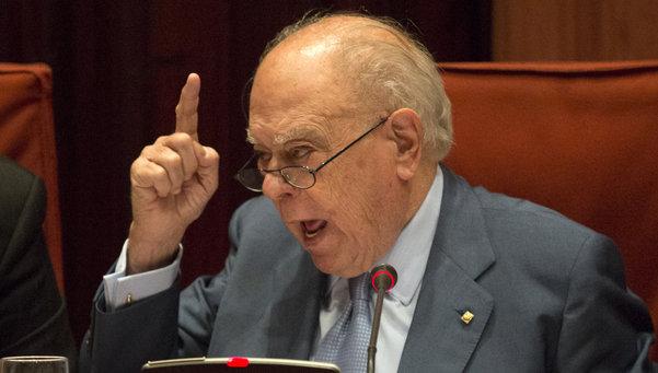 El expresidente de la Generalitat, Jordi Pujol, en la comisión de Asuntos Institucionales del Parlament. Afp / Lluís Gene