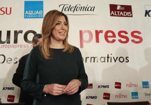 La presidenta andaluza, Susana Díaz, la pasada semana en un desayuno informativo en Madrid