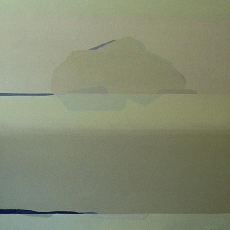 Teresa Muñiz. Desdibuja el verde lo intacto. 130 cm x 130 cm. Año 2005