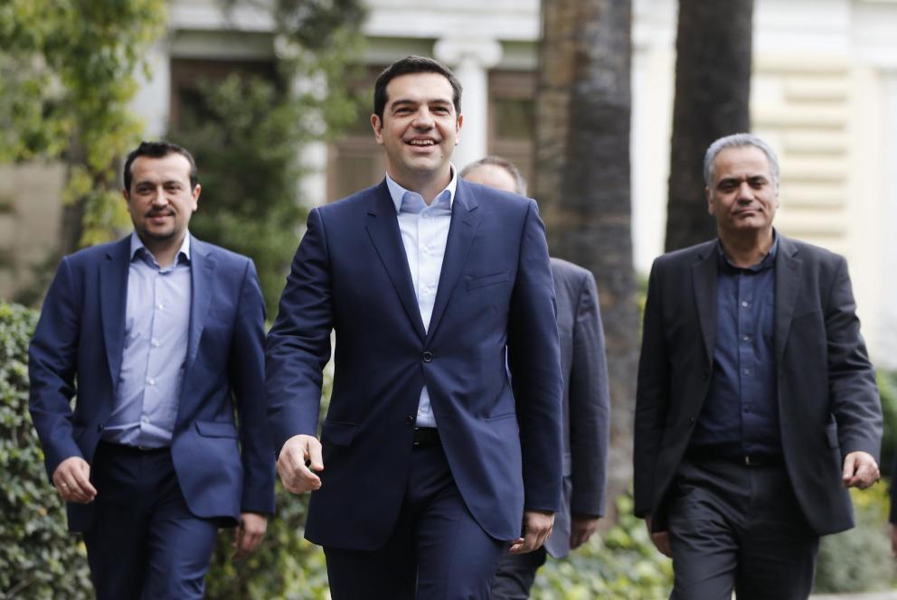 El primer ministro griego, Alexis Tsipras, el día de su toma de posesión (Reuters).