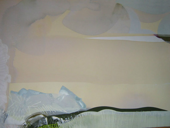 Teresa Muñiz. Acuarela y temple sobre papel.78x89.2008